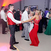 Don Knight | The Herald Bulletin<br /> Peyton Partlow and Megan Miller dance during the Frankton High School prom at The Factory on Saturday.