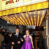 Cade Mohr and Kristen Hobbs arrive at the Paramount Theatre for the Lapel High School Prom. (Mark Maynard photo)