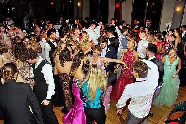 Dancers crowded the floor of the Paramount Theatre Ballroom on Saturday night for the Lapel High School Prom. (Mark Maynard photo)