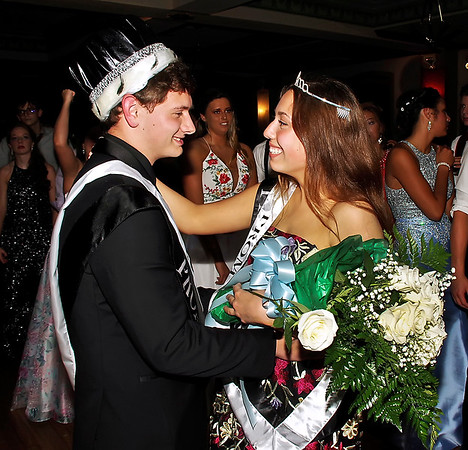 Brandon Wood and Josie Moore dance after being crowned King and Queen of the Lapel High School Prom on Saturday night. (Mark Maynard photo)