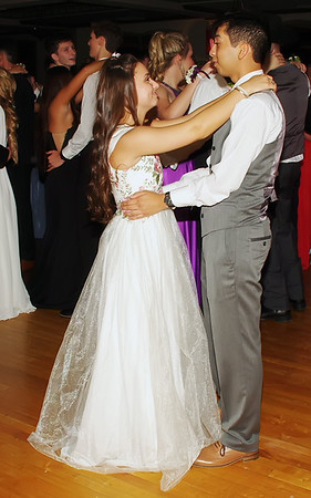 Sharing a slow dance during the Lapel High School Prom in the Paramount Theatre Ballroom. (Mark Maynard photo)