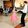 Don Knight | The Herald Bulletin<br /> Destiny McLemore and Grant Kelley dance during Anderson High School's special needs prom on Thursday.