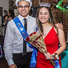 Photo by Chris Martin for The Herald Bulletin.<br /> Jalen Lark and Donica Scott are crowned APA's 2018 Prom King and Queen.