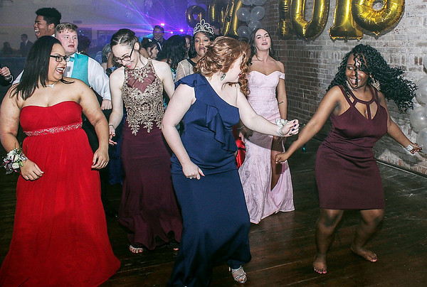 Photo by Chris Martin for The Herald Bulletin.<br /> The Anderson Preparatory Academy Prom was held Saturday evening at the Hardy Building in Markleville.