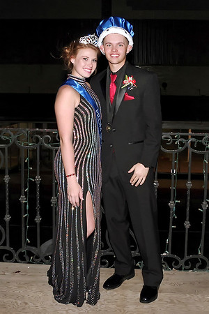 """Mark Maynard   for The Herald Bulletin<br /> Queen Mary Sayre and King Ryan Luzader reign over Alexandria-Monroe High School's """"Shine Bright Like a Diamond"""" prom on Saturday nignt."""