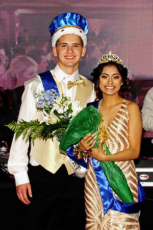 """Brody Groover and Gabby Lopez were crowned King and Queen of Anderson Highs School's """"A Night in Paris"""" Prom on Saturday evening. (Mark Maynard photo)"""