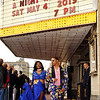 Venice McCullough and Jonae Glover Stroll along the red carpet under the Paramount marquee their way to the Anderson High School Prom. (Mark Maynard photo)
