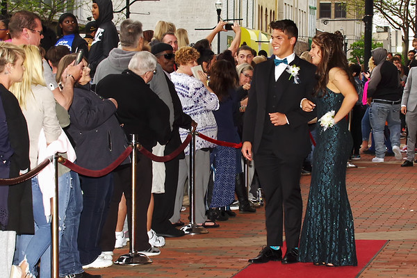 Phoenix Mills and Kerrigan Huffman pause for photos on their way in to the Anderson High School Prom. (Mark Maynard photo)