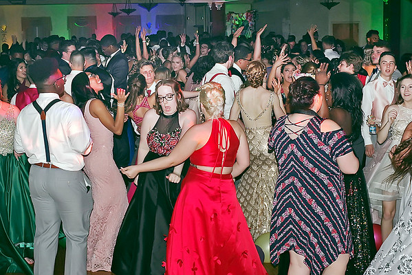 Mark Maynard | for The Herald Bulletin<br /> Dancers fill the floor of the Paramount Ballroom at the Anderson High School Prom.