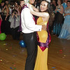 Mark Maynard | for The Herald Bulletin<br /> Anderson High School Prom King Noah Taylor and Queen Michelle Durran dance after their coronation.