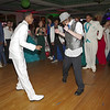 Mark Maynard | for The Herald Bulletin<br /> Austin Morgan and Todd Fritz square-up for a dance-off during the Anderson High School Prom.