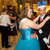 Kendra Evans and Joseph Rodriguez dance after being crowned prom queen and king.