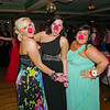 "LIndsey Hope, Maddison Hoke and Kyra Waters get into the spirit of the Alexandria High School ""Greatest Show on Earth"" prom theme by donning clown noses."