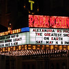 "The Paramount Thearter marquee announces the Alexandria High School ""Greatest Show on Earth"" prom."