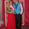 "Shanna Kelly and Landon Breese reign as the Queen and King of the Alexandria High School ""Greatest Show on Earth"" prom."
