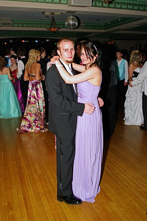 """Kenneth Welsh and Alexis Monarez dancing at the Alexandria High School """"Greatest Show on Earth"""" prom."""