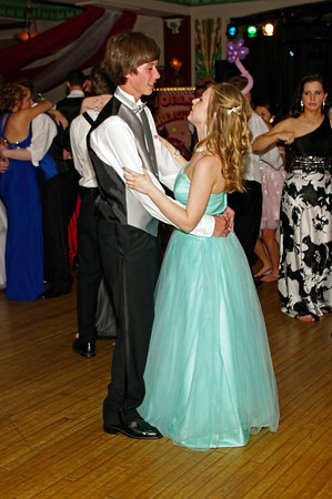 """Couples dancing at the Alexandria High School """"Greatest Show on Earth"""" prom."""