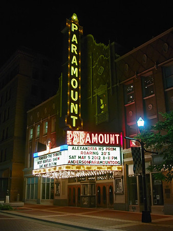 Paramount marquee announcing the prom