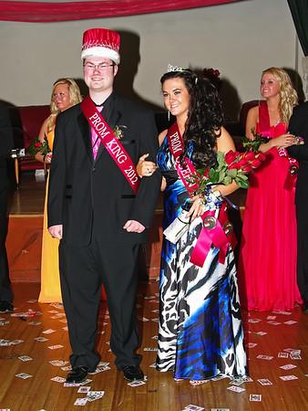 Prom Queen Kinzi Sayre and King Dustin Baldwin