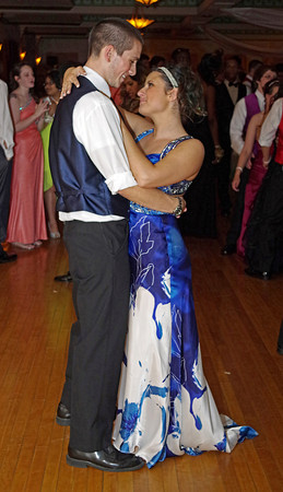 Christian Glover and Ashley Hiser share a dance during the Anderson High School Prom.