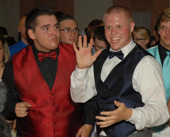 Layke Jones and Nick Anderson having fun on the dance floor.