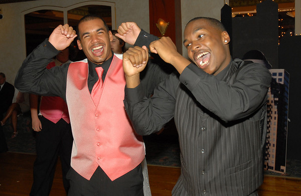 Peyton Newsom and Steven Boyd having fun on the dance floor.