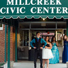 Tyler Gross and Tijera Wilson, both juniors, pose before entering the MillCreek Civic Center.  The Anderson Preparatory Academy Prom was held Saturday May 4 at the MillCreek Civic Center in Chesterfield. Photo by Richard Sitler