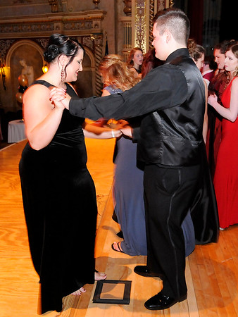 Don Knight | The Herald Bulletin<br /> Daleville held their prom at the Paramount on Saturday.