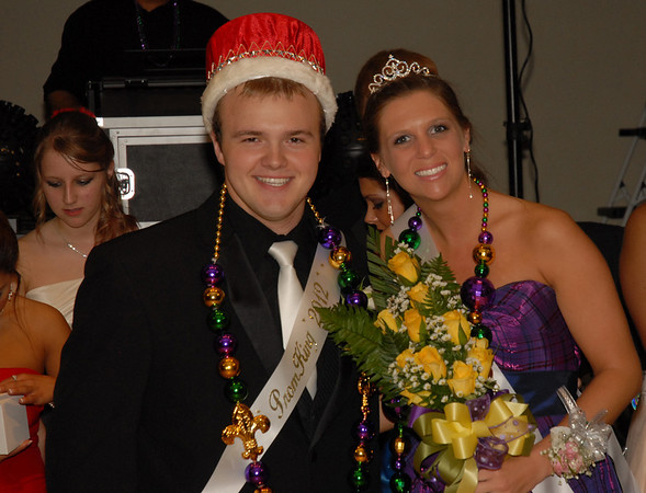 "Jarrod Clouser and Ellie Fettig were crowned King and Queen at the Elwood Prom held Saturday at the Paramount Theatre in Anderson. ""A Nigh in New Orleans"" was the theme for 2012 prom."