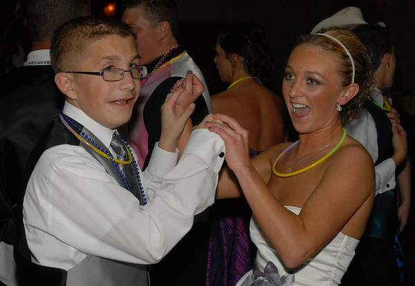 Jerrard Wilkerson and Morgan Cook share a dance at the Elwood Prom.