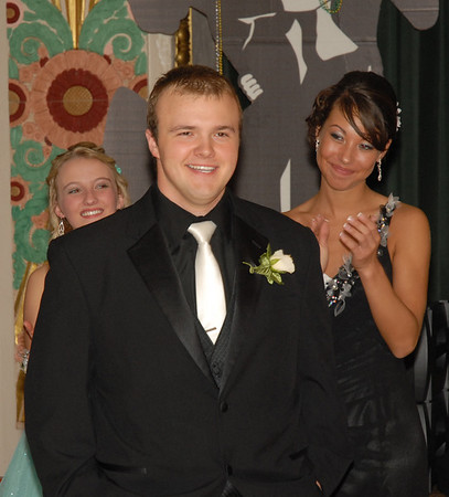 Jarrod Clouser is all smiles after being named Prom King.