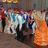 """Elwood High School Prom goers moving to the music in the """"Enchanted Garden."""""""