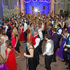 """Elwood High School Prom attendees dancing in the """"Enchanted Garden"""" on Saturday evening."""