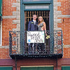 """Mitchell Richardson and Jordyn Wright pose on the Elwood Opera House balcony at their """"Enchanted Garden"""" Prom on Saturday night."""