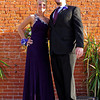Katelyn Leisure and Preston Collier pose for pictures prior to the Elwood High School Prom at the Opera House on Saturday evening