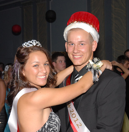 """Jake Beasley and Allie Rogers were named King and Queen at the Frankton Senior Prom held Saturday at the Elwood Opera House. The theme of the 2012 prom was """"The Roaring Twenties."""