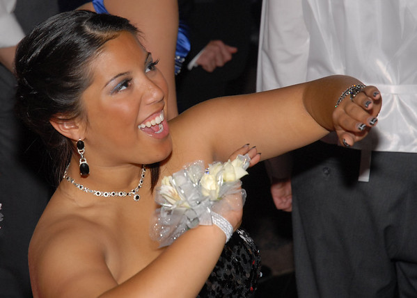 Christina Gray dances to the music of Lady Gaga at the Frankton Prom.
