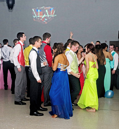 """Frankton High School students dancing at their """"Once Upon a Time"""" Prom held at The Factory on April 26, 2014."""