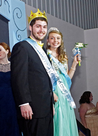 Jeff Biddle and Shelby Greene were chosen King and Queen of the Frankton High School Prom on Saturday night.