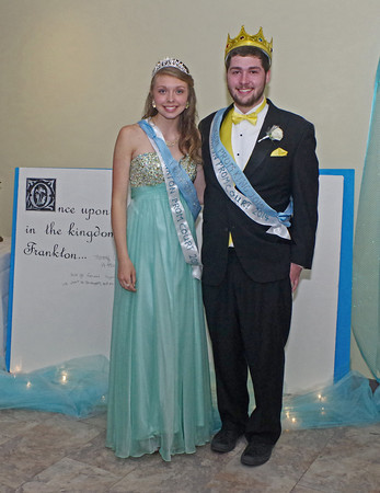 """""""Once Upon a Time"""" Shelby Greene and Jeff Biddle reigned as Queen and King of the Frankton High School Prom on April 26, 2014."""