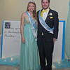 """Once Upon a Time"" Shelby Greene and Jeff Biddle reigned as Queen and King of the Frankton High School Prom on April 26, 2014."