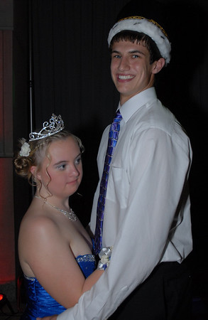 Kellen Dunham and Lyndsey Young share a dance as 2012 Prom King and Queen.