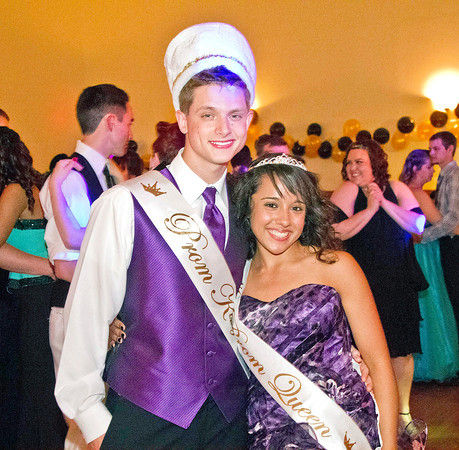 Bob Hickey   For The Herald Bulletin<br /> The Roaring 20s APA Prom. Eliana Monaghan and Jacob Smith are crowned King and Queen of the APA Prom.