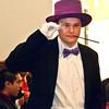 Bob Hickey | For The Herald Bulletin<br /> The Roaring 20s APA Prom. Justin Benjamin Enjoys APA's Roaring 20's theme Prom.