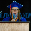Logan Scapellati gives the valedictorian address at the Putnam Edge graduation ceremony on Saturday afternoon. Fran Ruchalski/Palatka Daily News