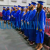 The 17 graduates of Putnam Edge class of 2019 stand in the front of the Jim Pignato Theatre at C. L. Overturf School on Saturday afternoon. Fran Ruchalski/Palatka Daily News