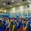 Several mortar boards were launched into the air at the close of the graduation ceremony. Fran Ruchalski/Palatka Daily News