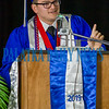 Justin Darcey addresses all of the students about the other 77% of their lives at the third Q. I. Roberts graduation ceremony at C. L. Overturf on Friday night. Fran Ruchalski/Palatka Daily News