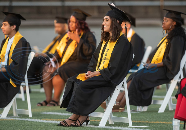 RISE Academy graduates attend their ceremony at Christus Trinity Mother Frances Rose Stadium on Wednesday, June 3, 2020.