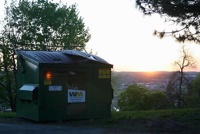Dumpster Sunset.